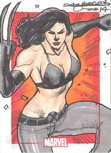 Marvel 75th Anniversary SketchaFEX Color Sketch Card Of X-23 Mark Marvida MINT!