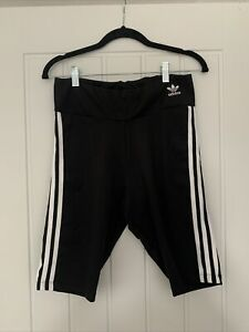 Adidas - 3 Stripe Black And White Cycling Shorts - Size 14