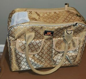 DoDo Pet Dog Cat Carrier Bag Purse Brown Canvas