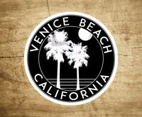 "Venice Beach California Sticker Decal Beach Ocean Surfing Vinyl 3"" x 3"" Surfer"