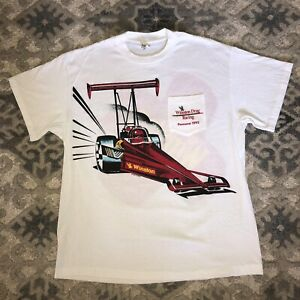 NOS XL Vintage NHRA T-Shirt USA 1992 POMONA CA Winston Drag Racing  READ PLEASE