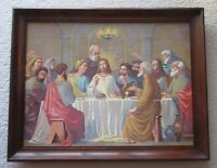 """""""The Last Supper"""" Framed Paint By Number 24"""" x 18"""" PBN"""