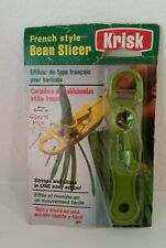 Krisk Bean Slicer Cutter Strings and Slices in One Easy Action NEW