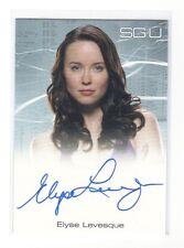 SGU Elyse Levesque as Chloe Armstrong auto card