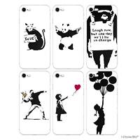 Banksy Coque/Étui/Case pour Apple iPhone 5 5C 6 6s 7 8 Plus / Silicone Gel TPU