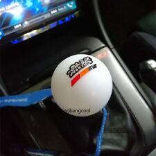 Racing Mugen White Round Resin Shift Knob Shifter Lever Knob for Honda etc.