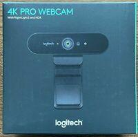 *BRAND* NEW* SEALED* SHIPS TODAY* Logitech BRIO 4K PRO HD Webcam RightLight3 HDR