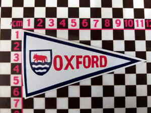 1960's Style Oxford Holiday Pennant Retro Classic Car Window Sticker
