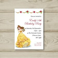Disney Princess Belle Birthday Party Invitations Beauty and the Beast