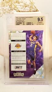 2017-18 Contenders Lonzo Ball Rookie RC Lottery Cracked Ice /25 BGS 9.5 Gem Mint