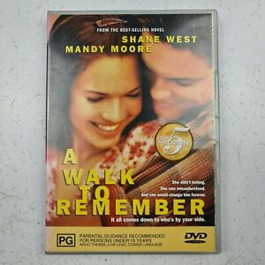 A Walk To Remember DVD - Mandy Moore, Shane West - Region 4 - FREE TRACKED POST