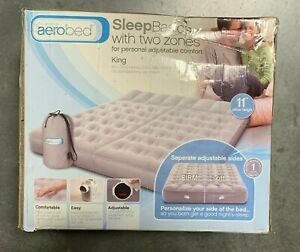 Aerobed Sleep Basics 2 Zone - King Air Bed w 120 Volt Air Pump | New | DMG Box 3