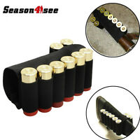 New Shotgun Buttstock 8 Shells Holder Elastic Ammo Tactical Holster 12/20 Gauge