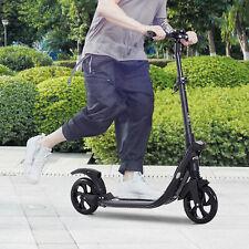 HOMCOM Folding Kick Scooter Teens Adult Ride On 2 Big Wheels Adjustable Height