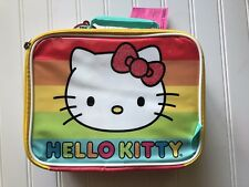 New NWT Thermos Hello Kitty Soft Lunch Kit Box Insulated Rainbow