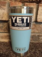NEW! Yeti 20 oz Sky Blue Tumbler Limited Edition Coffee Mug w/ MagSlider Lid