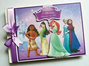 Personalised Disney Princess birthday guest book, Princesse birthday gift, album