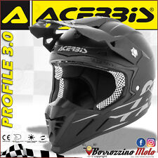 ACERBIS CASCO PROFILE 3.0 BLACKMAMBA MOTOCROSS OFFROAD NERO OPACO TG. XS