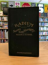 Radium and Other Radioactive Substances Vintage 1903 Medical Book William Hammer