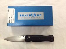 NEW Benchmade 530 Pardue 154CM Plain Edge Satin Finish Blade Black Handle Knife