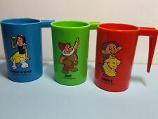 3 Walt Disney Plastic Mugs Doc, Dopey, Snow White Premium Gifts from P & G