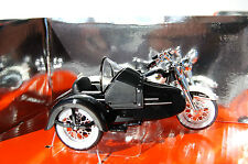 HARLEY DAVIDSON  DUO GLIDE  & SIDECAR  1/18th  MODEL MOTORCYCLE