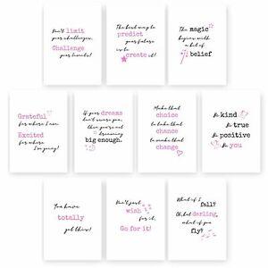 Motivational Prints Set, Inspirational Quotes, Positive Affirmations, A5 Prints