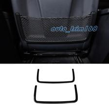 Carbon Fiber Rear Seat Back Storage Frame Trim For Mercedes-Benz GLE W166 15-19