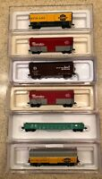 Premium N Scale Box Cars, Gondolas and Hoppers - Atlas Master, FVM & BLMA