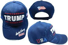 Trump Take America Back Usa Shadow 2024 Signature Navy Blue Embroidered Cap Hat