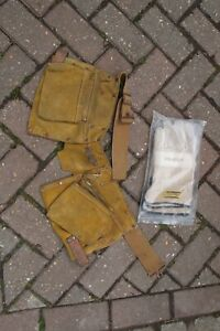 Leather tool belt with anti vibration gloves