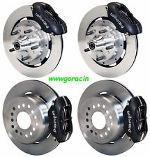 "WILWOOD DISC BRAKE KIT,1969-70 IMPALA,BEL AIR,CAPRICE,11"" ROTORS,BLACK CALIPERS"