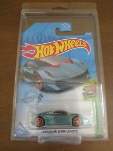 2020 Hot Wheels Super Treasure Hunt LAMBORGHINI SESTO ELEMENTO Blue J Case