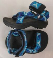 Nwob Teva #6243 Hurricane Toddler baby blue Whale Hiking Sandals size 2 & 3 / 18