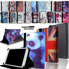 """Universal Leather Stand Folio Cover Case For Various 7"""" 8"""" 10"""" Tablet + Pen"""