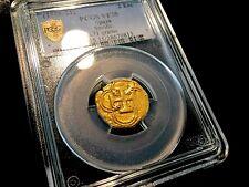 "SPAIN 1598-1621 ATOCHA SHPWK ERA 1 ESCUDO ""PHILIP III"" PCGS 35 GOLD COB DOUBLOON"
