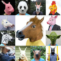 Multi-Funn​y Latex Animal Horse Head Mask Cosplay Halloween Costume Party Prop
