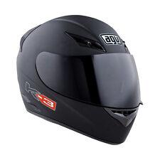 AGV K-3 Full-Face Motorcycle Helmet (Flat Black) Choose Size