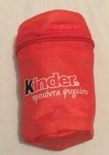 ORANGE KINDER CHOCOLATE COOL CARRY ZIPPED BAG LUNCHBOX PICNIC (bxc06)
