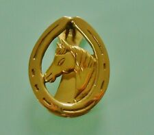 Nouvelle annonce HORSE HEAD AND SHOE SOLID BRASS DOOR KNOCKER