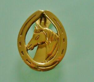 Horse Head & Horse Shoe ~ Solid Brass ~ Door Knocker