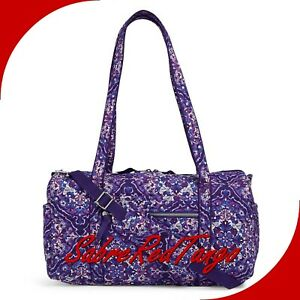 NWT VERA BRADLEY QUILTED ICONIC SMALL TRAVEL DUFFEL BAG FLORAL REGAL ROSETTE