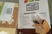 chicago cutlery 18 piece insignia steel knife set