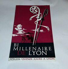 bi-millénaire de Lyon spécial hors série juin 1958 réalisation Audin