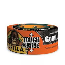 Gorilla Tape Black 73mm x 27m TOUGH+WIDE Super klebriges Wetterfestes Klebeband