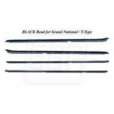 84-87 Grand National BLACK O.E. Style Window Felt Dew Sweep Set Inner Outer 4pc
