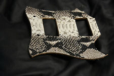 Leather pickguard Gibson SG Snake skin tuscan python  white and black