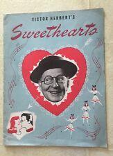 BOBBY CLARK / MARJORIE GATESON /VICTOR HERBERT 1947 SWEETHEARTS Souvenir Program