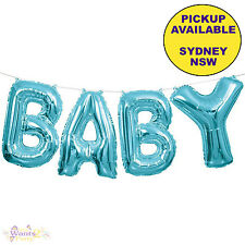 BABY SHOWER PARTY SUPPLIES FOIL BLUE BOY LETTER BALLOON BANNER KIT DECORATIONS