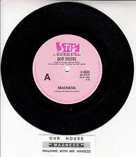 "MADNESS  Our House 7"" 45 rpm vinyl record + juke box title strip RARE!"
